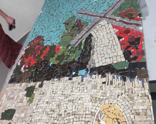 פרויקט קהילתי-פסיפס בבית הספר