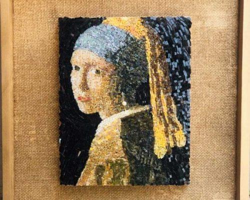 מרתה רובמן-פסיפס נערה עם עגיל פנינה