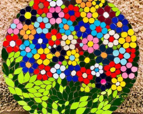 מיקי גנץ פסיפס פרחים
